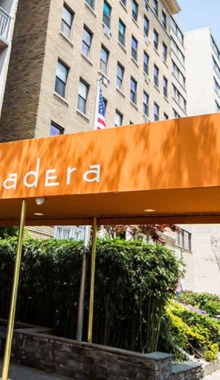 Front entry of Hotel Madera