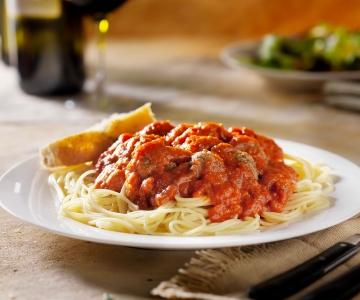 A warm pasta dish
